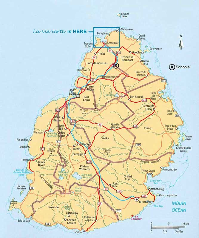 Detailed Information - Detailed map of mauritius